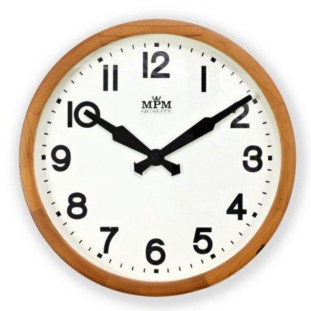 Zegar MPM ścienny drewniany 30cm E07.3661.5000