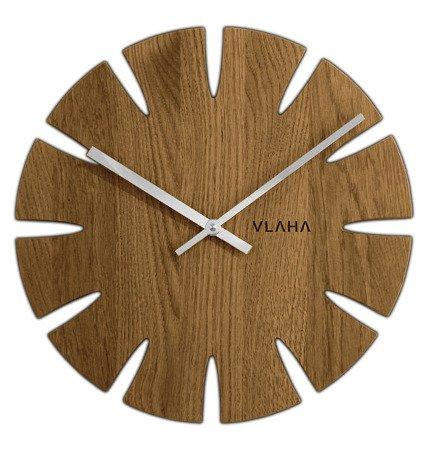 Zegar VLAHA ścienny 32,5 cm RECZNIE ROBIONY drewniany  VCT1014