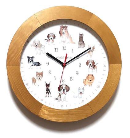 Zegar dla dzieci drewniany PIESKI ATW300P2 JD SW