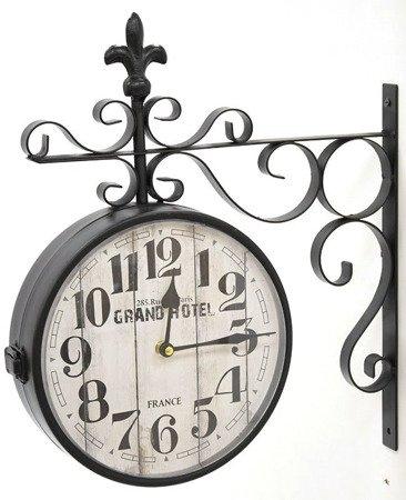 Zegar dworcowy dwustronny retro duży Grand Hotel 100612