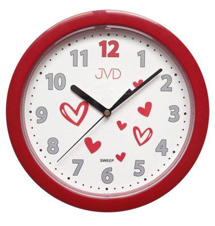Zegar dziecięcy ścienny CICHY serduszka HP612.D3