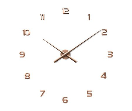 Zegar naklejany miedziany CAŁE CYFRY 90 cm LCT1173