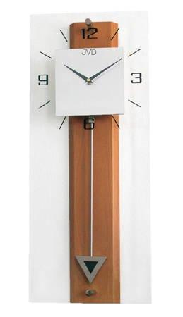 Zegar ścienny DREWNO szkło duży WAHADŁO NS2233.41