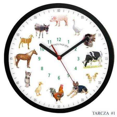 Zegar ścienny GŁOS ZWIERZĄT cichy ATE2013MZB T1 SW