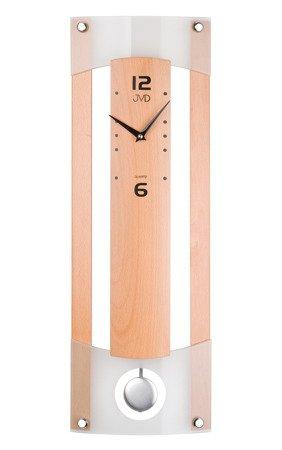Zegar ścienny JVD Z WAHADŁEM szkło drewno N11007.68