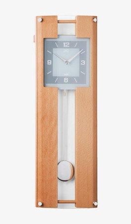 Zegar ścienny JVD Z WAHADŁEM szkło drewno N12009.68