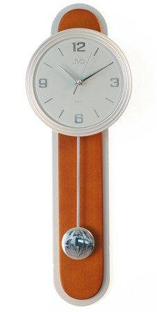 Zegar ścienny JVD Z WAHADŁEM szkło drewno NS17014.41