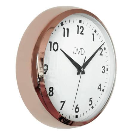 Zegar ścienny JVD aluminium miedziany 32cm HT077.1