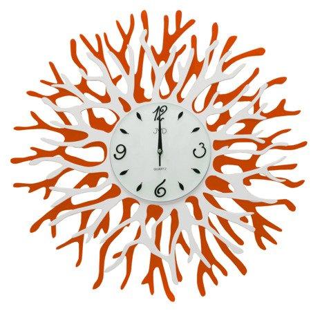 Zegar ścienny JVD kryształki stal nowy design 59 cm HJ79.2