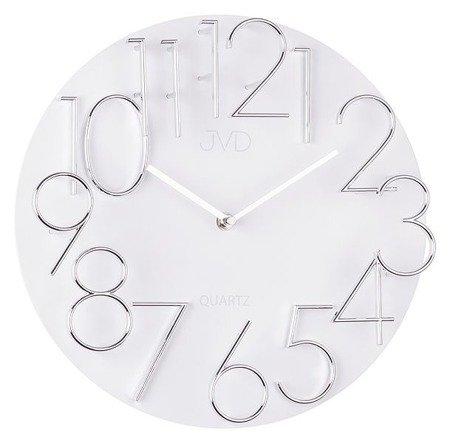 Zegar ścienny JVD nowoczesny płyta MDF METAL  HB08