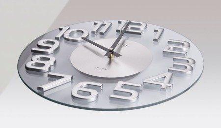 Zegar ścienny JVD nowoczesny szkło HT098.2