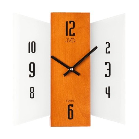Zegar ścienny JVD szkło drewno N12004.41