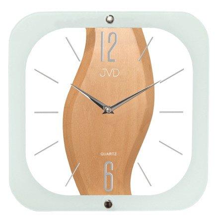 Zegar ścienny JVD szkło drewno N14014.1