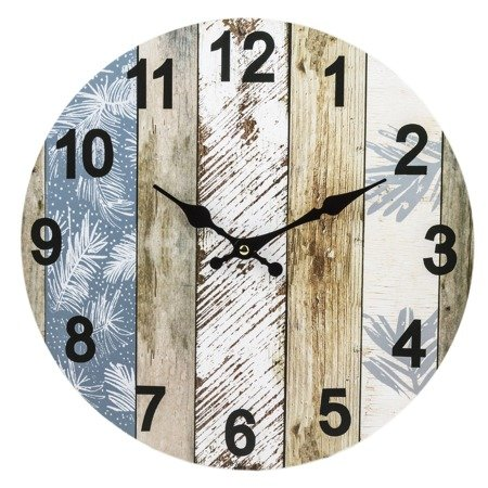 Zegar ścienny MDF retro loft EFEKTOWNY 34cm 124267
