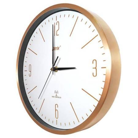 Zegar ścienny RADIOWY aluminium złoty AL5134DCF1
