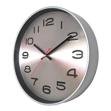 Zegar ścienny RADIOWY srebrny ATE2303SMRC1