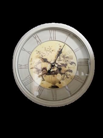 Zegar ścienny RETRO kwiaty duży 50 cm SN54488