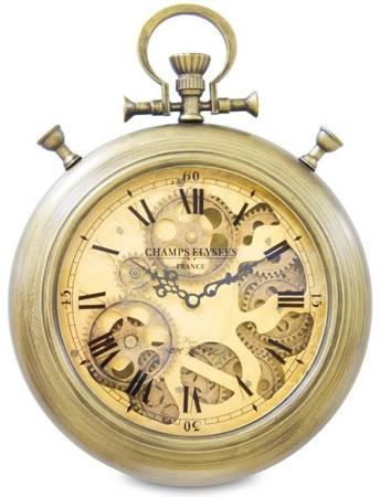 Zegar ścienny RUCHOME TRYBY stare złoto 109003