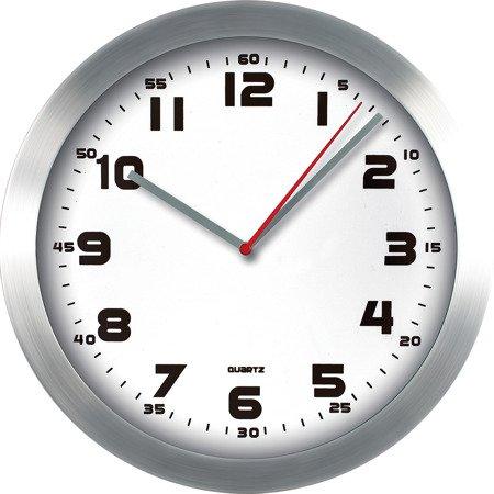 Zegar ścienny aluminium nowoczesny czytelny MP E01.2482.7000