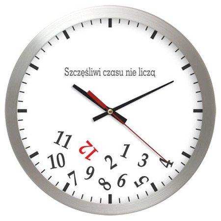 Zegar ścienny aluminium średni AL02SC