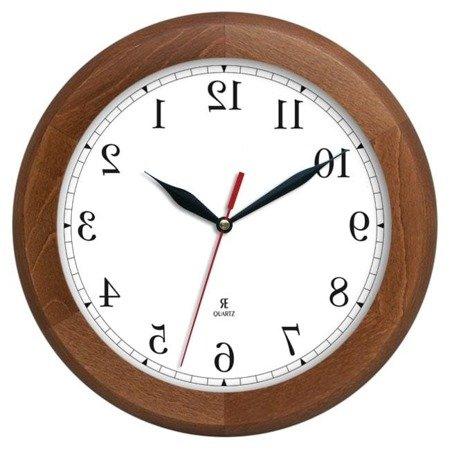 Zegar ścienny anti-clock drewno 30cm ACW301AL2