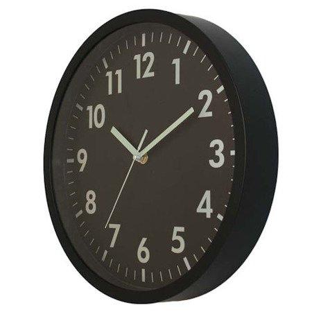 Zegar ścienny czytelny czarny 30 cm ATE2013B