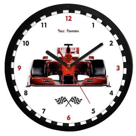 Zegar ścienny dla dziecka SAMOCHÓD ATE2013PP BL SW