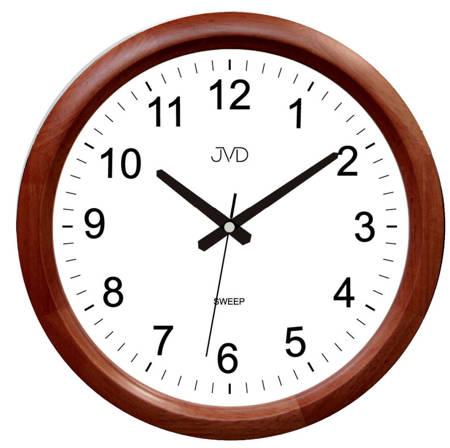 Zegar ścienny drewniany brązowy klasyczny NS8017.1