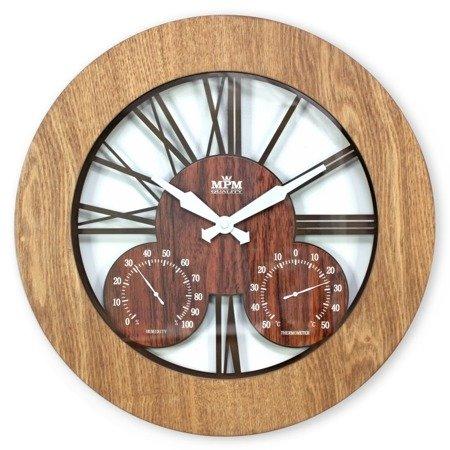 Zegar ścienny drewniany duży 43 cm E07.3664.5052