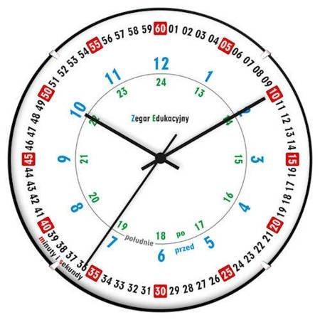 Zegar ścienny dziecięcy edukacyjny ATE2030ED