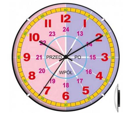 Zegar ścienny dziecięcy nauka godzin EDUKCYJNY