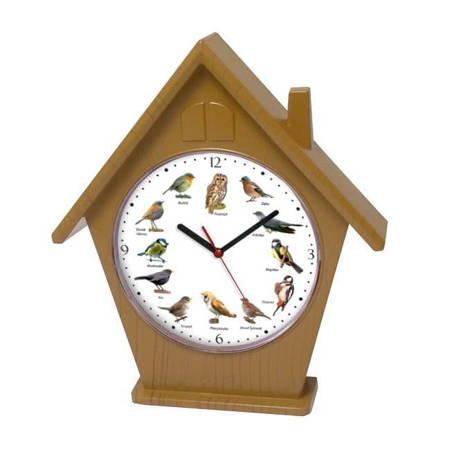 Zegar ścienny głosy ptaków domek ATE4030B SW