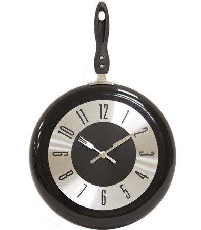 Zegar ścienny metalowy patelnia średni 106527