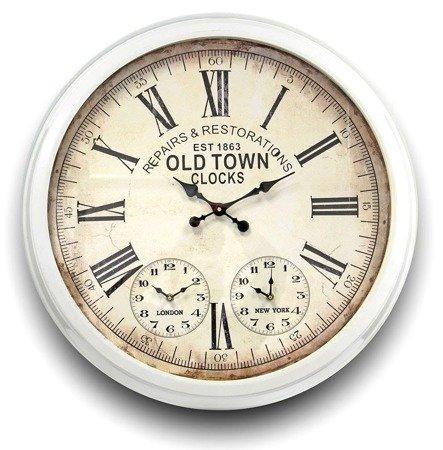 Zegar giełdowy (3 tarcze) metalowy bardzo duży  82478