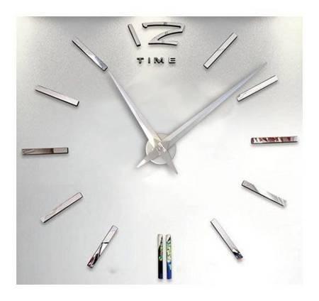 Zegar ścienny naklejan DIY srebrny duży 110cm 01S3