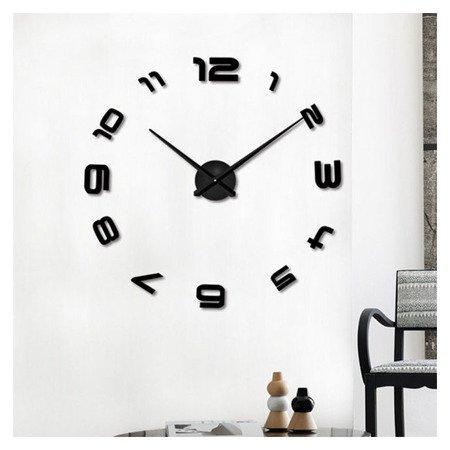 Zegar ścienny naklejany DIY czarny duży 100 cm DIY06B4