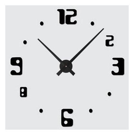 Zegar ścienny naklejany DIY czarny duży 100 cm DIY11B3
