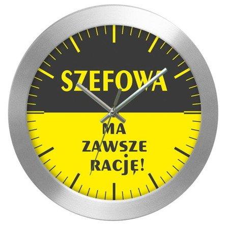 Zegar ścienny prezent DLA SZEFOWEJ AL2412SF2