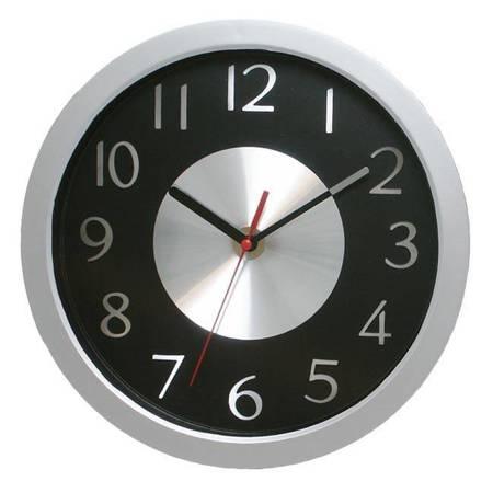 Zegar ścienny srebrny aluminium ATE2302AM SW
