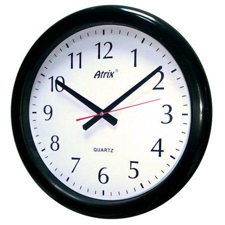 Zegar ścienny wodoszczelny duży czarny ATE740B SW