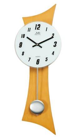 Zegar ścienny z WAHADŁEM DREWNO szkło  N27004.68