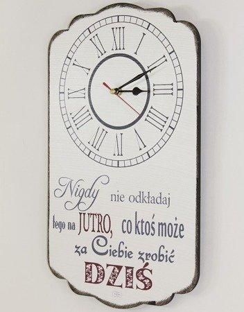 Zegar ścienny z napisem płyta MDF, LOFT, retro średni 107895