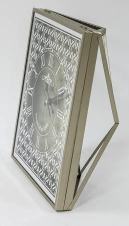 Zegar stojący kominkowy srebrnozłoty retro 117197