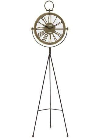 Zegar stojący metalowy mosiądz ażurowy retro loft duży AP 113720